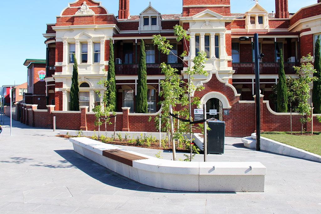 Community Project: Mentone Renaissance New Community Piazza, bluestone paving