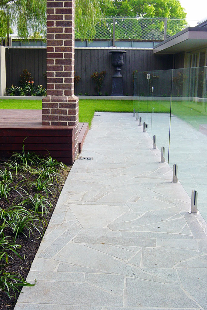 Residential Project: bluestone crazy paving
